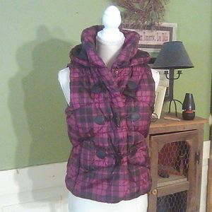 Doll house hooded puff vest